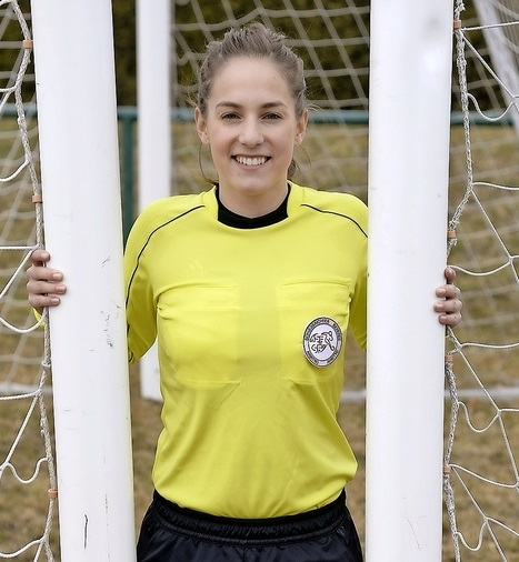 Anne Gabellon, arbitre de football. Photo Lib Vincent Murith, 01.03.17